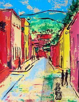 Mexican street San Miguel de Allende by Cristiana Marinescu