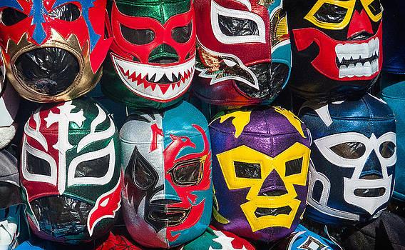Mexican Wrestler Masks by Sandy Scharmer