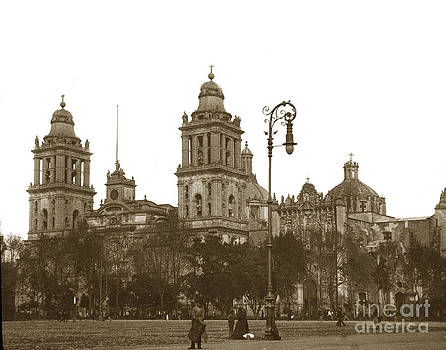 California Views Mr Pat Hathaway Archives - Mexico City Cathedral with the Metropolitan Tabernacle to the right.
