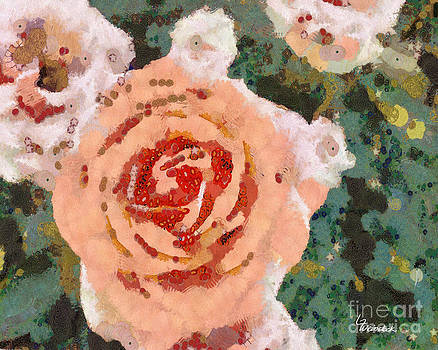 Alameda Meyers House Garden Klimt Rose by Linda Weinstock