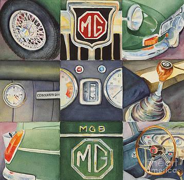 MGB Car Collage by Karen Fleschler