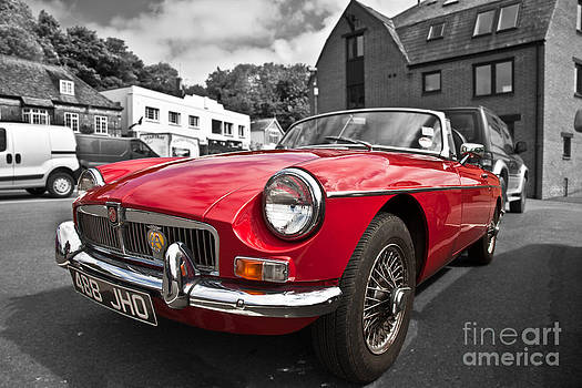 MGB GT in red by Anthony Morgan