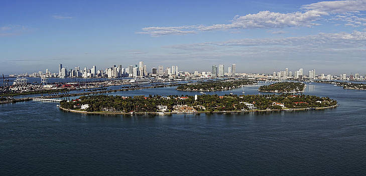 Miami and Star Island Skyline by Gary Dean Mercer Clark