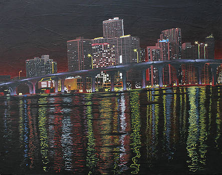 Miami at Night by Maxwell Hanson