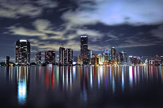Miami Skyline by Gary Dean Mercer Clark
