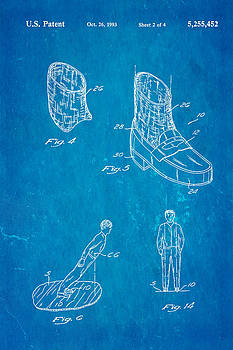 Ian Monk - Michael Jackson Anti Gravity Boot 2 Patent Art 1993 Blueprint