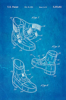 Ian Monk - Michael Jackson Anti Gravity Boot Patent Art 1993 Blueprint