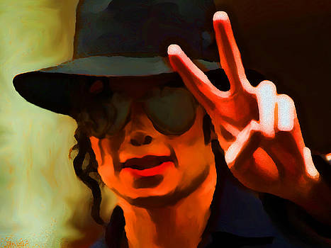 Michael Jackson painting by Parvez Sayed