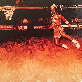 Michael Jordan Painting 60x48 by Ocean Clark
