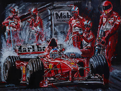 Michael Schumacher out of the darkness by Juan Mendez