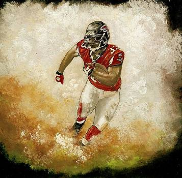 Michael Turner Atlanta Falcons by Jerry Bates