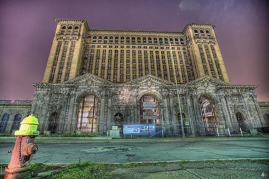 Michigan Central Station Detroit MI by A And N Art