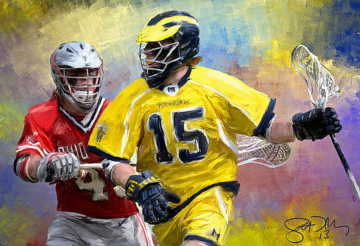 College Lacrosse 4 by Scott Melby