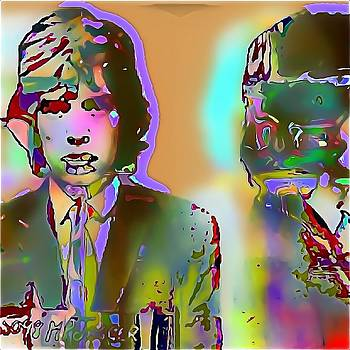 Mick Jagger  Back to the Wall by Henry Everhart-Martinez