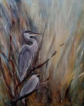 Middle Lake Heron by Marcia Crispino