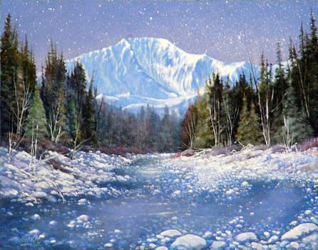 Midnight Christmas Eve Pikes Peak 130901-1114 by Kenneth Shanika
