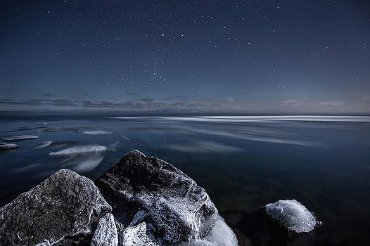 Midnight Freeze at Silver Harbour by Jakub Sisak