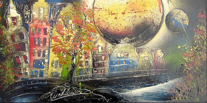 Midnight in Amsterdam  by Evaldo Art