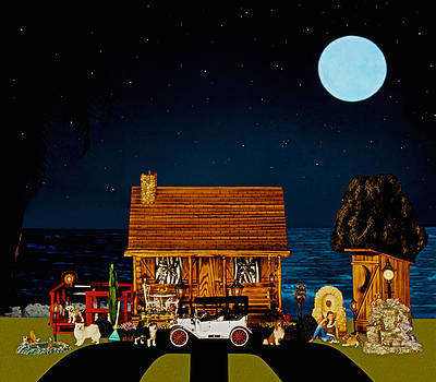 Midnight Near The Sea In Color by Leslie Crotty