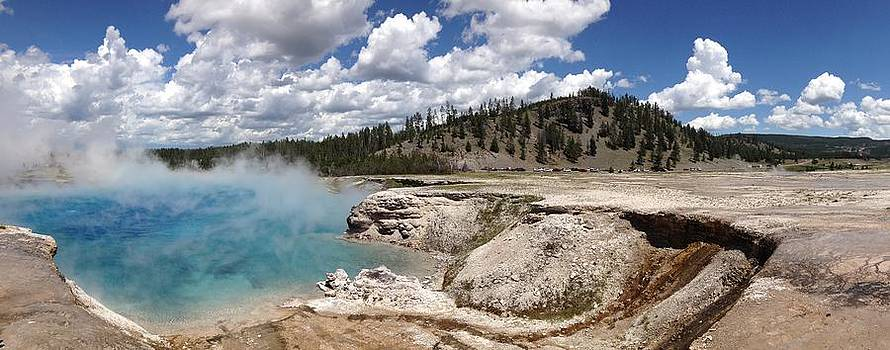 Midway Geyser in Yellowstone  by Azadeh Bostan