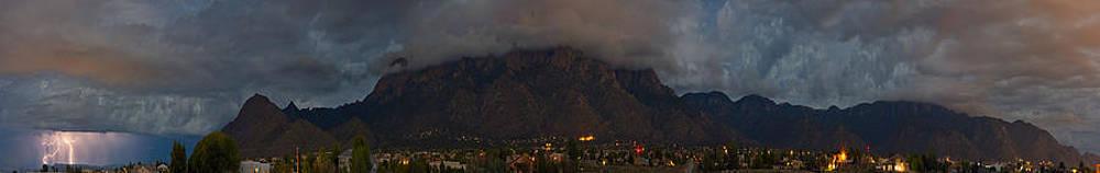 Mighty Sandias Panoramic by Jose  Sandoval