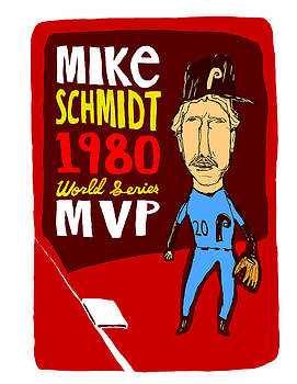 Mike Schmidt Philadelphia Phillies by Jay Perkins