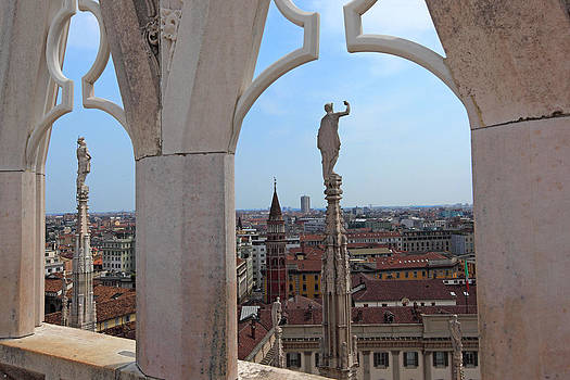 Susan Rovira - Milan Cathedral Rooftop View
