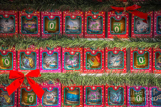 Ian Monk - Mile Marker 0 Christmas Decorations Key West - HDR Style