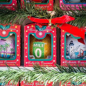 Ian Monk - Mile Marker 0 Christmas Decorations Key West - Square