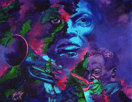 Miles Davis by Kathleen Kelly Thompson