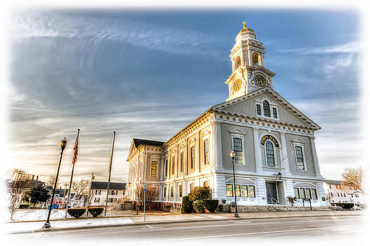 Milford Town Hall Milford MA by James Wellman