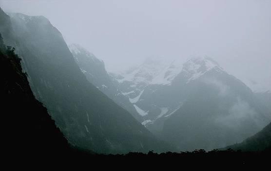 Milford Sound Fog New Zealand by Sandra Sengstock-Miller