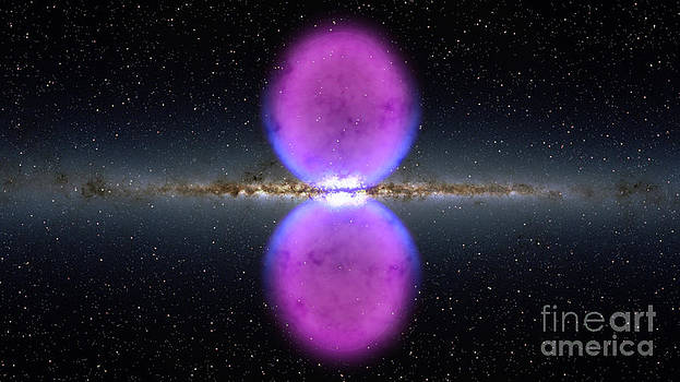 Science Source - Milky Way And Gamma-ray Bubbles