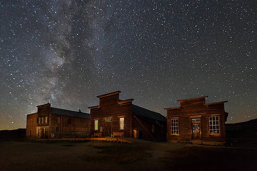 Milky Way Over Downtown Bodie by Jeff Sullivan