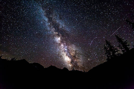 Milky Way Over Mountains by Steve Burns