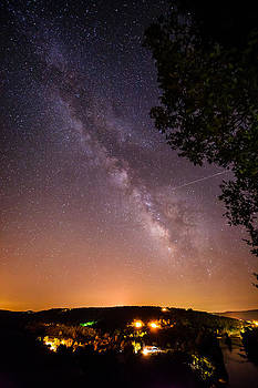 Milky Way over White River by Benjamin King
