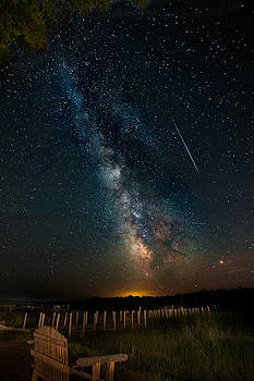 Milky Way Photo Bomb by Mike Lanzetta