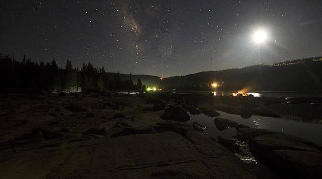 Milky-way over Plasse's Resort - Silver Lake by Eleanor Caputo