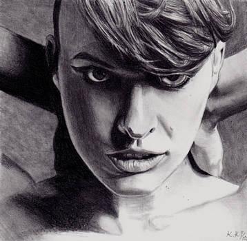 Milla Jovovich by Kohdai Kitano