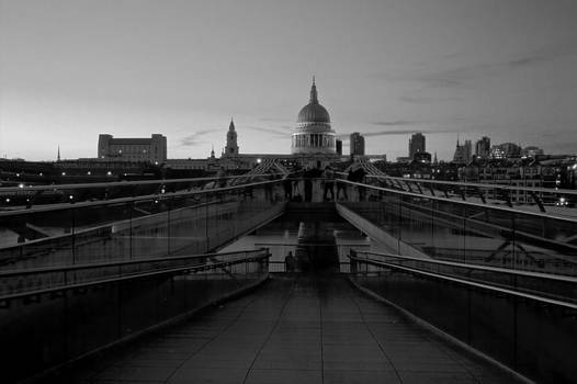 David French - Millenium Thames Bridges BW