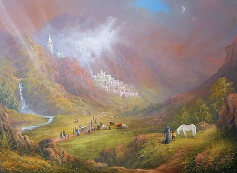 Minas Tirith  War approaches. by Joe  Gilronan