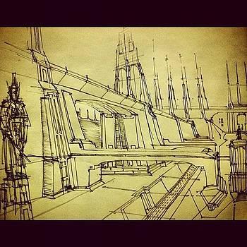 #mindscape3 #sketch #cityscape #artdeco by Hugo Lemes