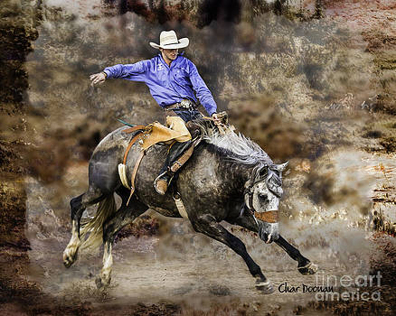 Mineola Rodeo Bronc Rider by Char Doonan