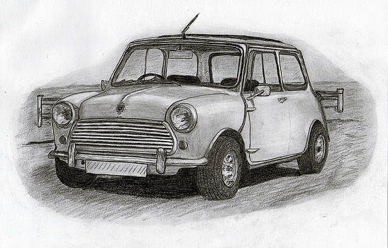 Mini Morris car. by Kokas Art