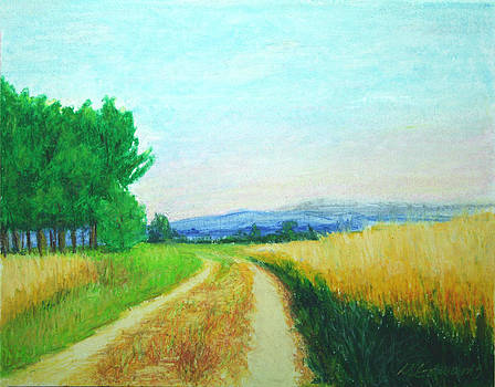 Mini Painting Wheat Fields by Marna Edwards Flavell