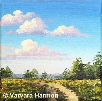 Miniature Acrylic painting #18 by Varvara Harmon