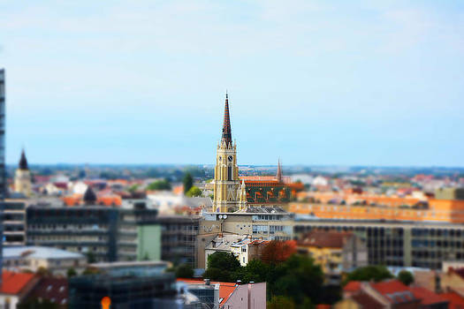 Newnow Photography By Vera Cepic - Miniature effect of church in the city center