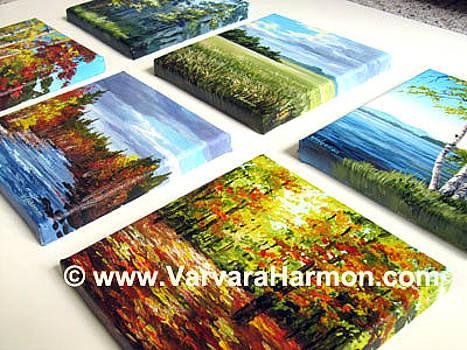 Miniatures 6x6 side view. by Varvara Harmon