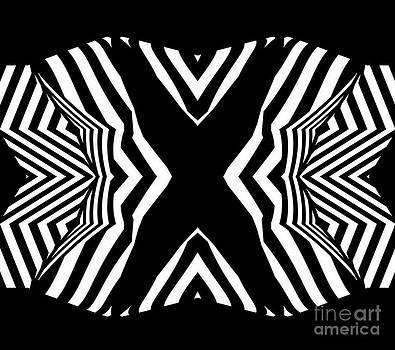 Minimalism Black White Abstract Art No.313. by Drinka Mercep