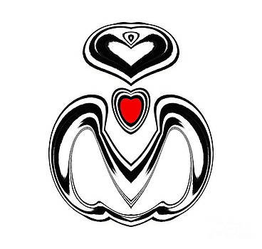 Minimalism Black White Red Art No.181. by Drinka Mercep